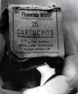 Caja con munición del Ejército encontrada en Montejurra.
