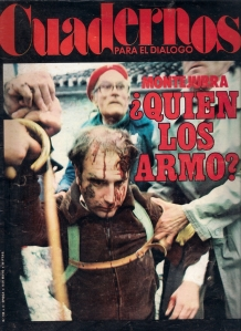 Portada de Cuadernos para el Diálogo con la imagen de Ferrán Lucas, carlista y militante de CCOO.